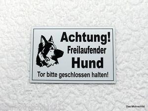 Größen SchnäPpchenverkauf Zum Jahresende Achtung Freilaufender Hund,hundeschild,schäferhund,gravurschild,versch