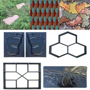 Garden-Path-Maker-Mold-Reusable-Concrete-Cement-DIY-Plastic-Brick-Mould-Decor