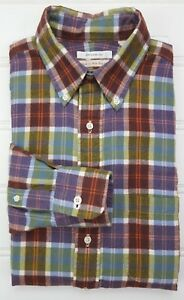 Unionmade-Flannel-Shirt-Small-Multicolor-Plaid-Checked-Mens-New-England-Size-S