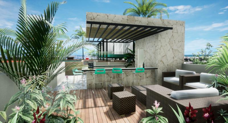 En venta Estudio equipado y amueblado en Playa del Carmen Meliora
