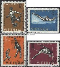 Vietnam 283-286 (kompl.Ausg.) gestempelt 1963 Sportspiele in Djakarta EUR 2