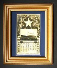 TITANIC MEMORABILLIA REPLICA OF 1912 WHITE STAR LINE CALENDER INSERT APRIL 1912