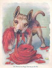NAUGHTY German Shepherd Alsation Mix Puppy  PUPPY VINTAGE Art Print 1926