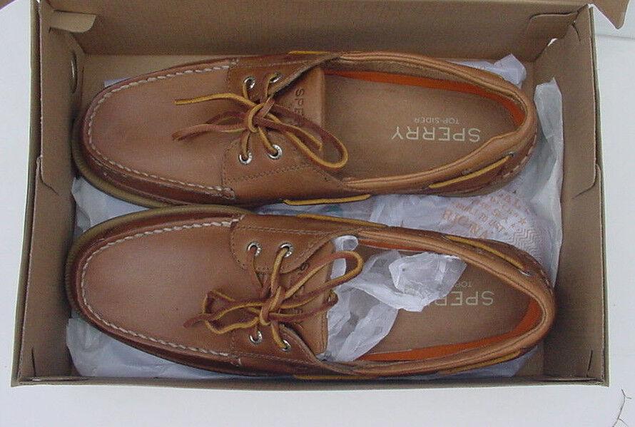Neu in Box Sperry Top-Sider Charter Deckschuhe Schuhe 2 Ösen Dunkelbraun    | Verkauf Online-Shop