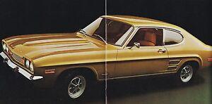 1971 Lincoln-mercury Capri Brochure / Catalogue / Flyer : 1.6 L Prix ModéRé