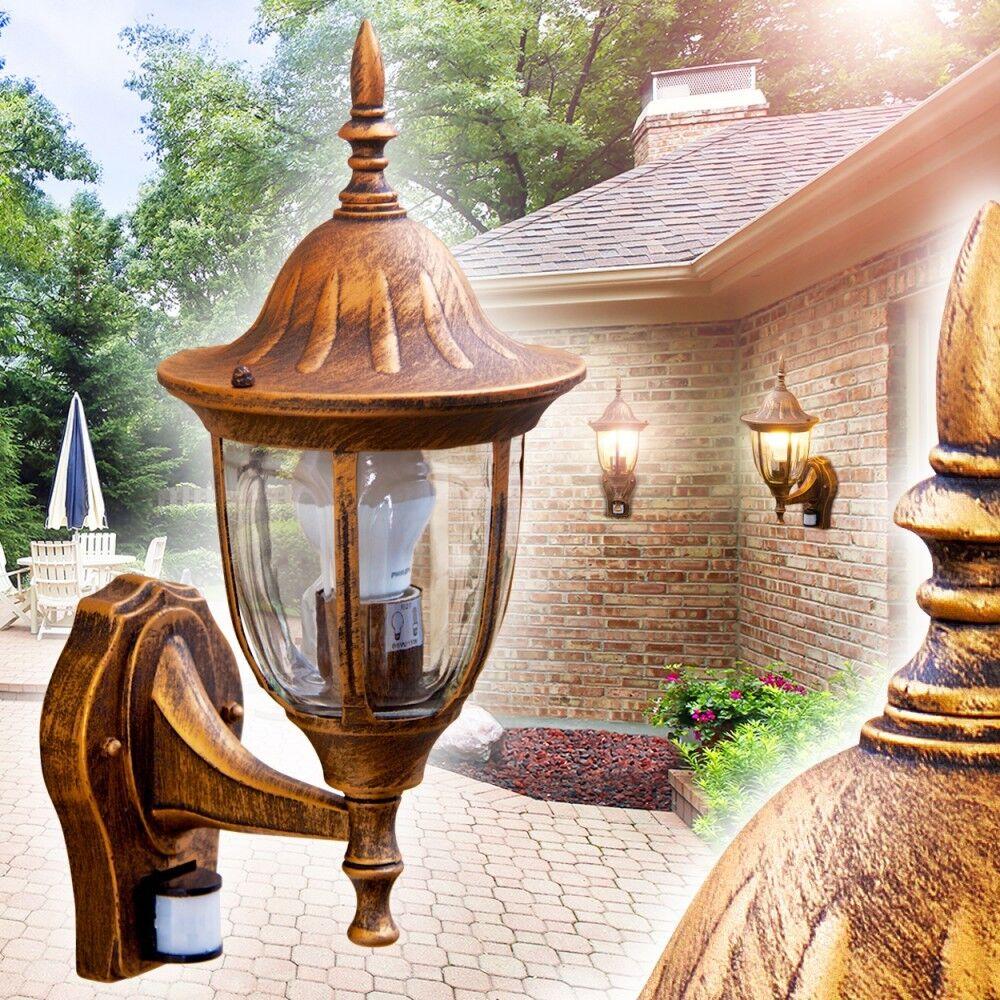 Applique Lampe d'extérieur Détecteur Lampe murale Lampe de jardin marrón 142321