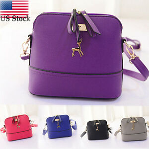 b89fa78eb241 Image is loading Fashion-Women-Vintage-Messenger-Bags-Small-Shell-Leather-