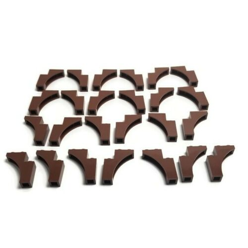 Lego 25 New Reddish Brown Bricks Arches 1 x 3 x 3 Pieces Tree Branch Parts 13965