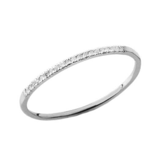 0.04 CARAT POIDS TOTAL Dainty Diamond Band Bague en or blanc