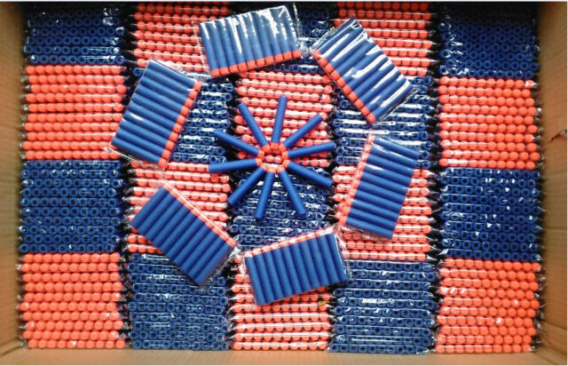 100pcs Kids Refill Toy Gun Bullet Darts Round Head Blasters For NERF N-Strike