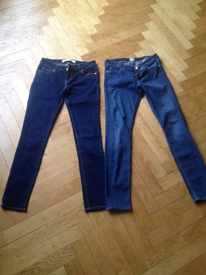 Jeans, Cowboybukser stretch, Abercrombie og Lee