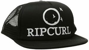 Rip-Curl-Women-039-s-Surf-Bird-Trucker-Hat-Cap-Black