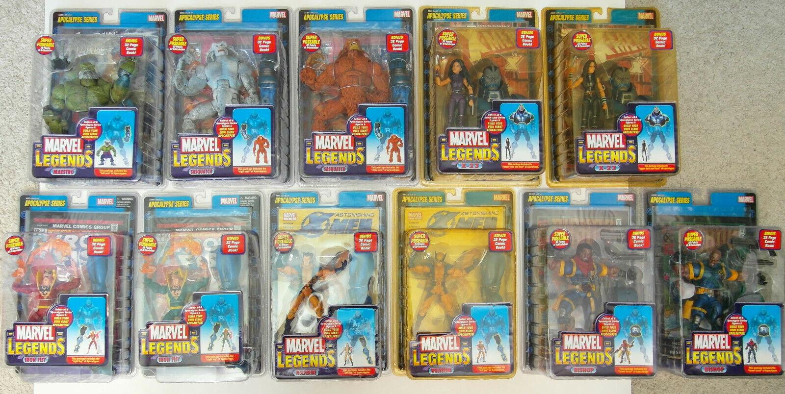 11 Marvel Leyendas-Apocalipsis Juguete Biz construir una figura Onda todas las variantes Lote