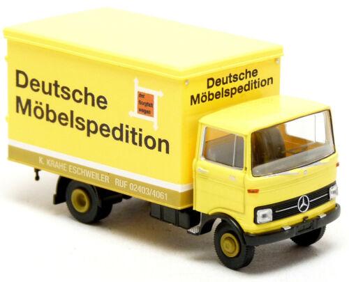 Brekina MB mercedes benz LP 608 maleta deutsche camiones muebles transportista 1:87 h0