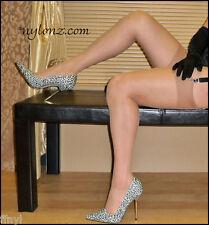 3 pairs NYLONZ Silky Smooth RICH TAN Stockings XL / XXL / X-TALL / Plus Size