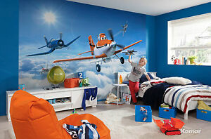 Disney-murale-papier-peint-pour-garcon-039-s-chambre-a-coucher-poster-style-avions-au-dessus-des