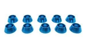 10 Pack M6 Blue Anodized Aluminum Finishing Beauty Washers ...