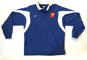 half off 16969 15695 Details about VTG Nike France Futbol National Team Rugby Polo Shirt Soccer  Jersey 2XL XXL