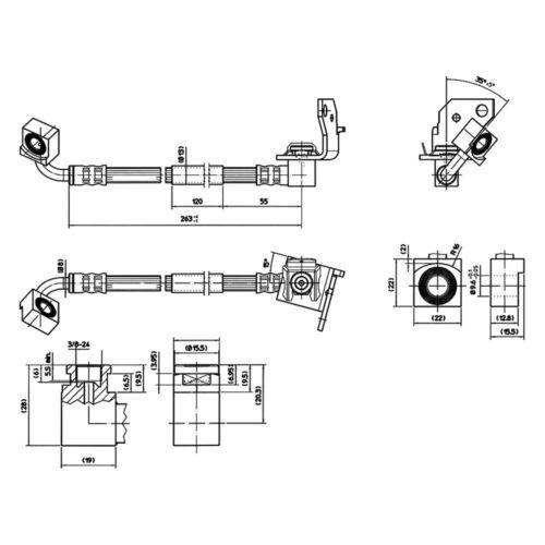 For Ford Explorer 1996-2001 Centric 150.65110 Front Driver Side Brake Hose