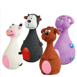 Pet-Puppy-Latex-Chew-Squeaker-Squeaky-Sound-Cow-Elephant-Dog-Ball-Playing