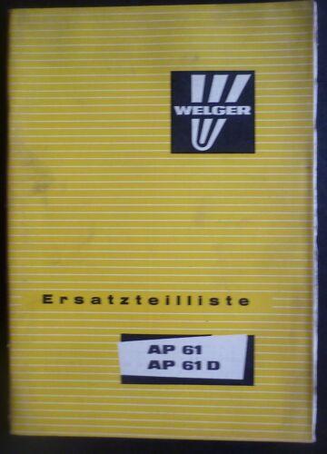 Welger empacadora ap61 ap61 d catálogo de repuestos