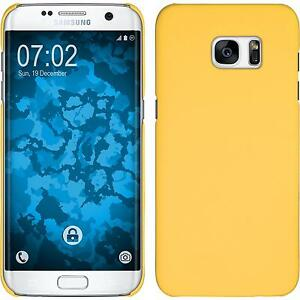 Funda-Rigida-Samsung-Galaxy-S7-Edge-goma-amarillo-Case