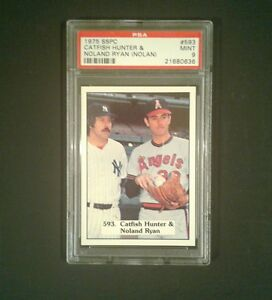 1975-SSPC-Catfish-Hunter-Nolan-Ryan-Nolan-Baseball-Sport-Card-593-PSA-Mint-9