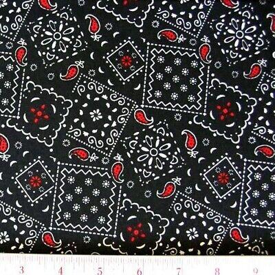 Blazin Bandanas Green Bandana Pattern Cotton Fabric by the Yard