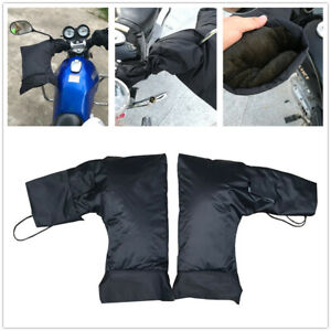 Black-Motorcycle-Hand-Mitts-Rainproof-Cycling-Handlebar-Hands-Warmer-Hand-Covers