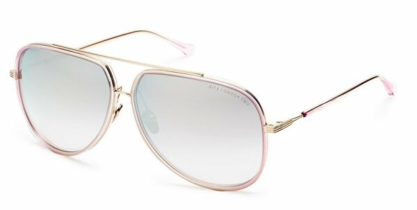 8e3107a64d New Authentic DITA CONDOR-TWO Pink Pale Gold Silver Mirror Sunglasses  21010-D