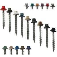 Bulk Metal Roofing Screws: 2 (750) Colored Sheet Metal Roof Screw Siding Screws