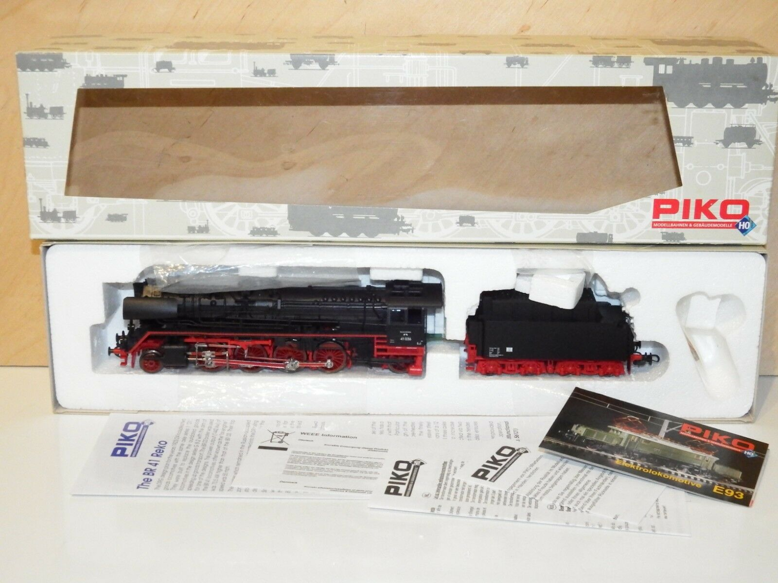 H0 PIKO 50028 DSS locomotiva BR 41 036 DR OVP come nuovo 8937