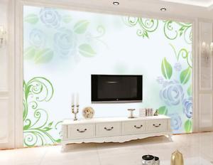 3D Greenness Leaf 45 Wallpaper Murals Wall Print Wallpaper Mural AJ WALL UK Kyra