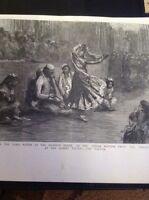 H9-1 Ephemera 1895 Picture Nautch Indian Dancers Meet Lord Mayor Mansion House