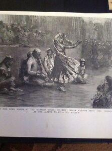 H9-1-Ephemera-1895-Picture-Nautch-Indian-Dancers-Meet-Lord-Mayor-Mansion-House