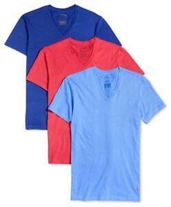 8fe072b8 Polo Ralph Lauren 3-Pack Men's Classic Fit Cotton V-Neck T-Shirts ...