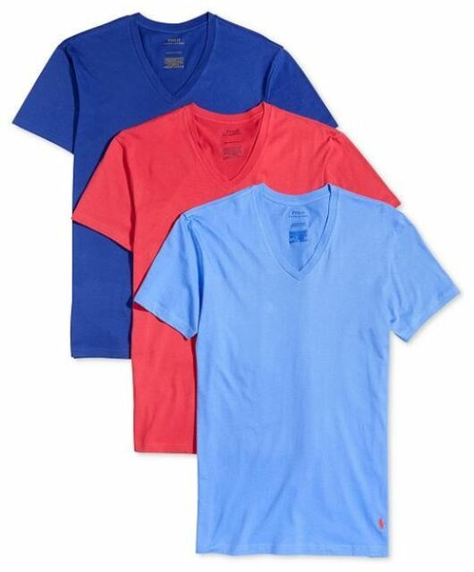e8a1f08ae462 Polo Ralph Lauren 3-Pack Men s Classic Fit Cotton V-Neck T-Shirts