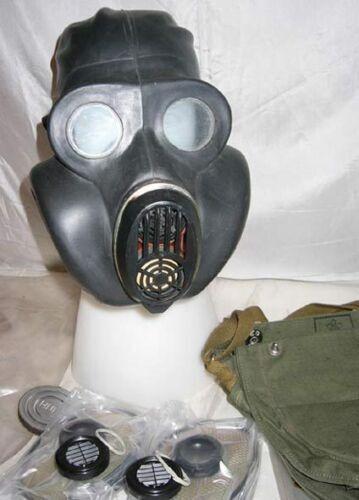 Original FULL SET SOVIET USSR MILITARY GAS MASK PBF Homiak Black Never used!