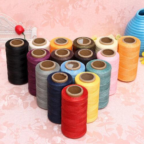 New 260M 1MM Leather Sewing Waxed Wax Thread Hand Stitching Cord Craft DIY Uylj