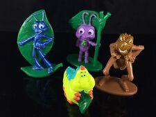 Lot Set 4 Disney Pixar A Bug's Life Toy Figures Cupcake Toppers Flik Dot Hopper