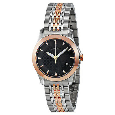 Gucci Timeless Two-tone Stainless Steel Ladies Watch YA126512