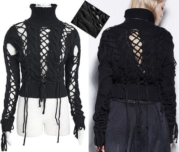 Pull haut gothique punk lolita destroy fashion laçages sexy vintage PunkRave N