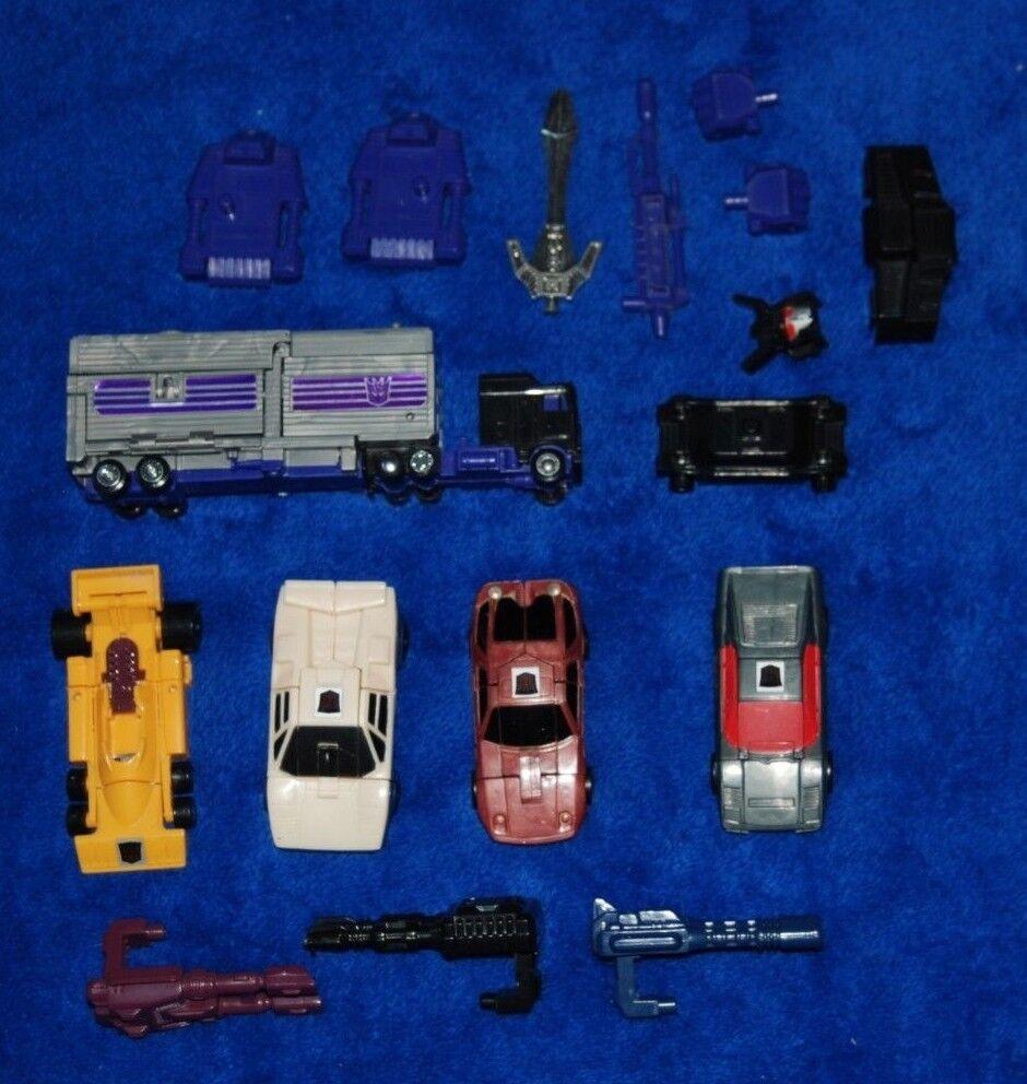 Vintage Transformers Decepticons G1 Menasor W Coche armas, Stunticons Hasbro 1986