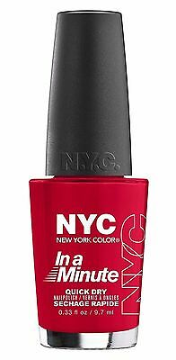 NYC In A Minute Quick Dry Nail Polish - 282 Rivington Red 0.33 Fl Oz