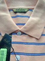 Roundtree & Yorke Gold Label Orange Stripe Slim Fit Polo Shirt Mens Xl Gl-2