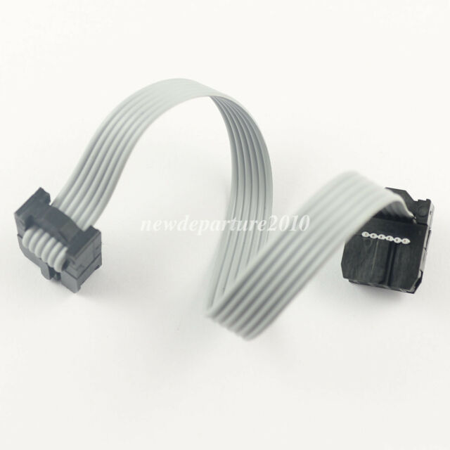 200Pcs 2.54mm Pitch 2x3 Pin 6 Pin 6 Wire IDC Flat Ribbon Cable Length 8CM