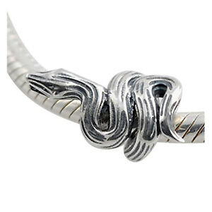 VIPER-Snake-Serpent-Solid-925-sterling-silver-European-charm-bead