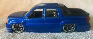 2002-Cadillac-Escalade-EXT-Jada-Toys-Just-Trucks-1-24-Metallic-Blue-Nice-VHTF