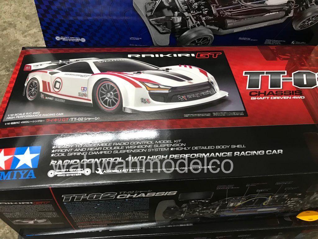 Tamiya 1 10 TT02 4WD RC coches Touring On Road raikiri GT EP con Esc 58626