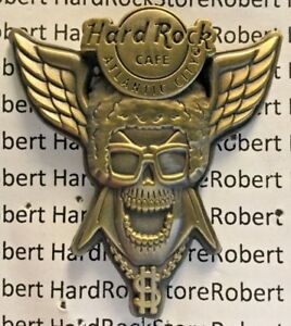 2007 Hard Rock Cafe Atlantic City Bronze 3D Flügel Totenkopf Serie Pimp Daddy Le